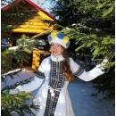 Костюм Снегурочки (с вышивкой)