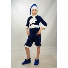 Костюм Гнома (синий) с башмаками для детей 3-6 лет