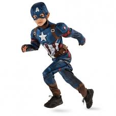Костюм  Мстители Капитан Америка. Дисней. Captain America, DISNEY. 9-10 лет (135-145 см)