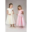 Платье нарядное S03 (розовое, кремовое)